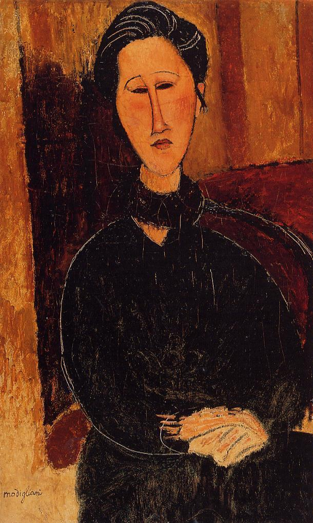 Anna (Hanka) Zabrowska 1916 | Amedeo Modigliani | Oil Painting