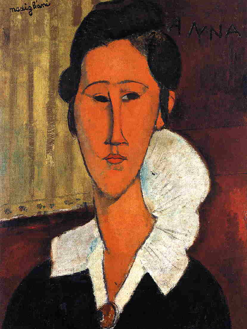 Anna (Hanka) Zborowska 1917 | Amedeo Modigliani | Oil Painting
