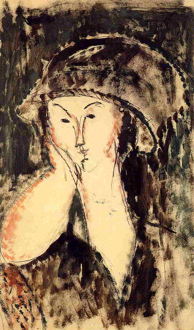 Beatrice Hastings Leaning on Her Elbow 1914 | Amedeo Modigliani | Oil Painting