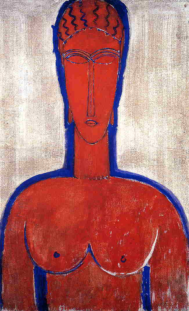 Big Red Buste 1913 | Amedeo Modigliani | Oil Painting
