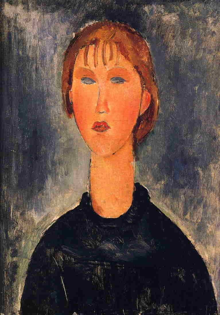 Bust Length Portrait of Blonde Girl 1919 | Amedeo Modigliani | Oil Painting