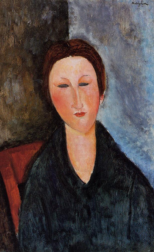Bust of a Young Woman (aka Mademoiselle Marthe) 1916 1917 | Amedeo Modigliani | Oil Painting