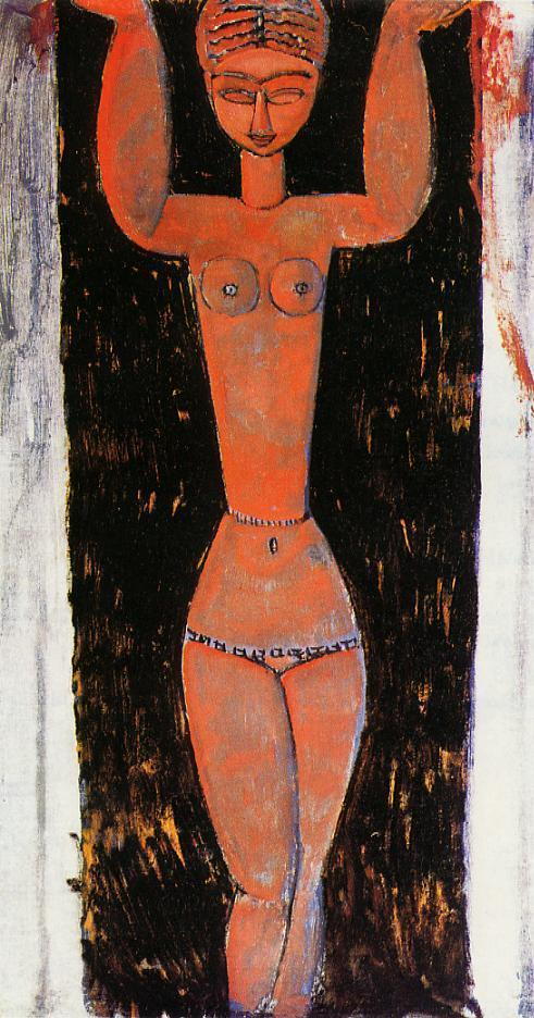 Caryatid 1912 1913 | Amedeo Modigliani | Oil Painting