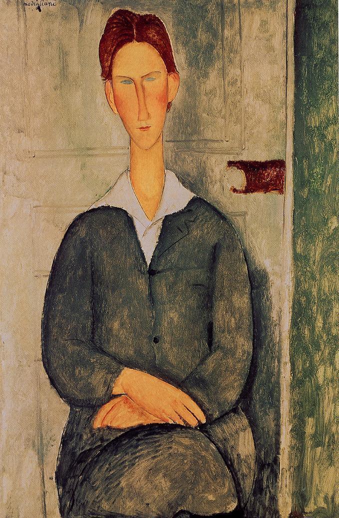 Giovanotto dai Capelli Rosse 1919 | Amedeo Modigliani | Oil Painting