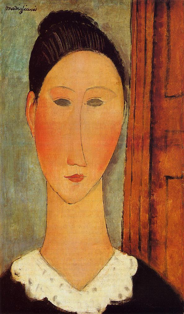 Head of a Girl 1918 | Amedeo Modigliani | Oil Painting