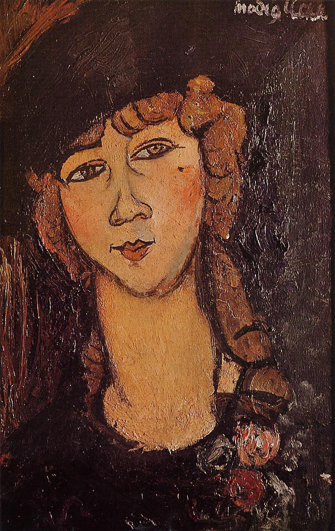 Head of a Woman in a Hat (aka Lolotte) 1916 | Amedeo Modigliani | Oil Painting