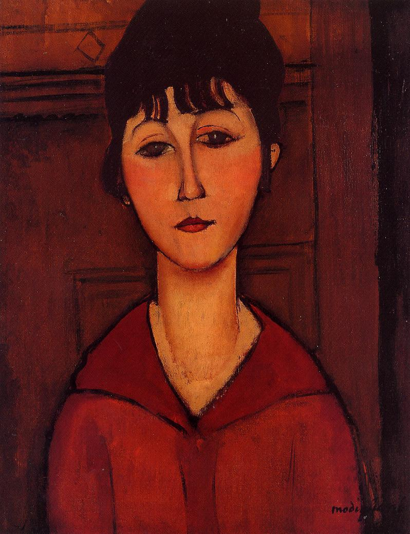 Head of a Young Girl 1916 | Amedeo Modigliani | Oil Painting
