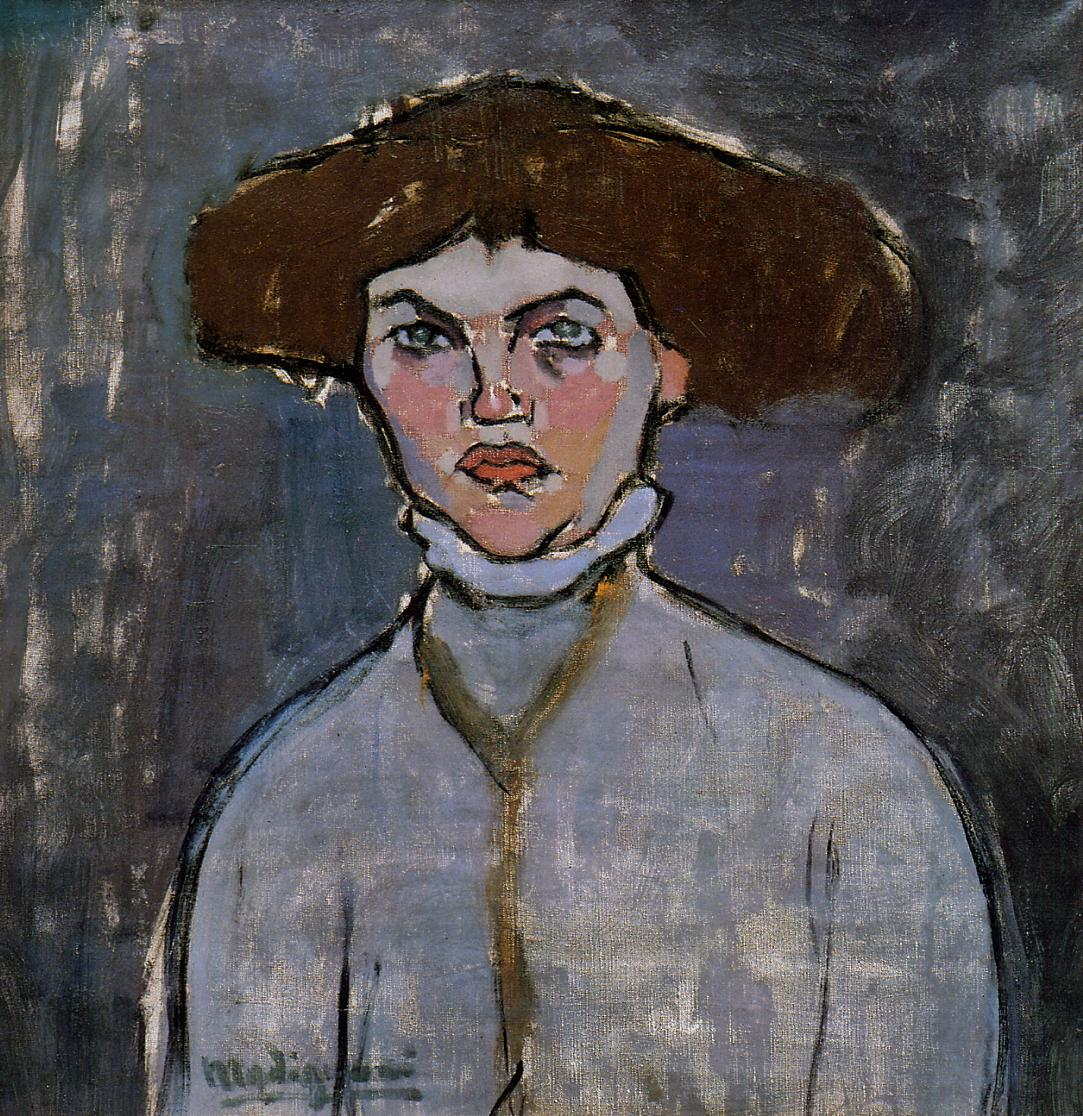 Head of a Young Woman 1908 | Amedeo Modigliani | Oil Painting