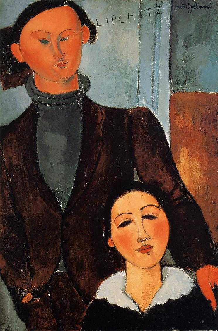 Jacques and Berthe Lipchitz 1917 | Amedeo Modigliani | Oil Painting