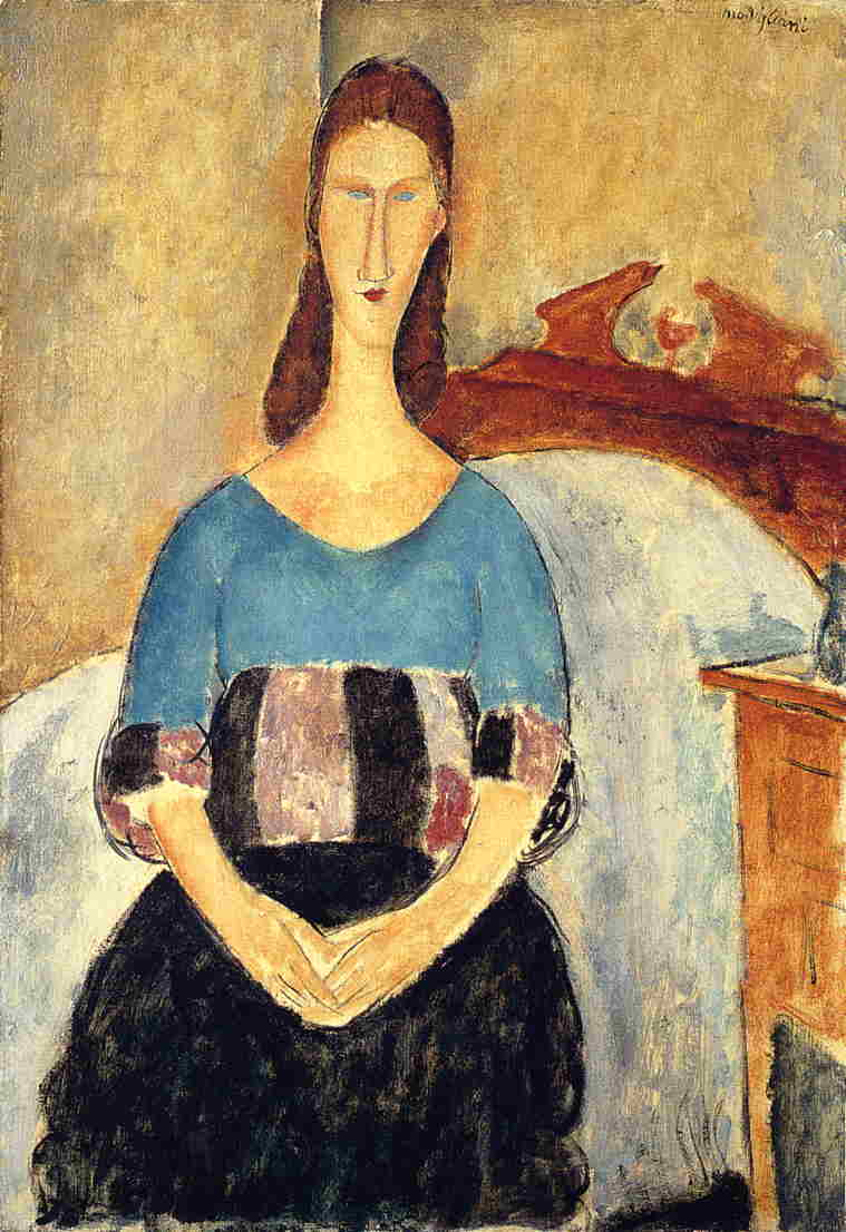 Jeanne Hebuterne 1919 | Amedeo Modigliani | Oil Painting
