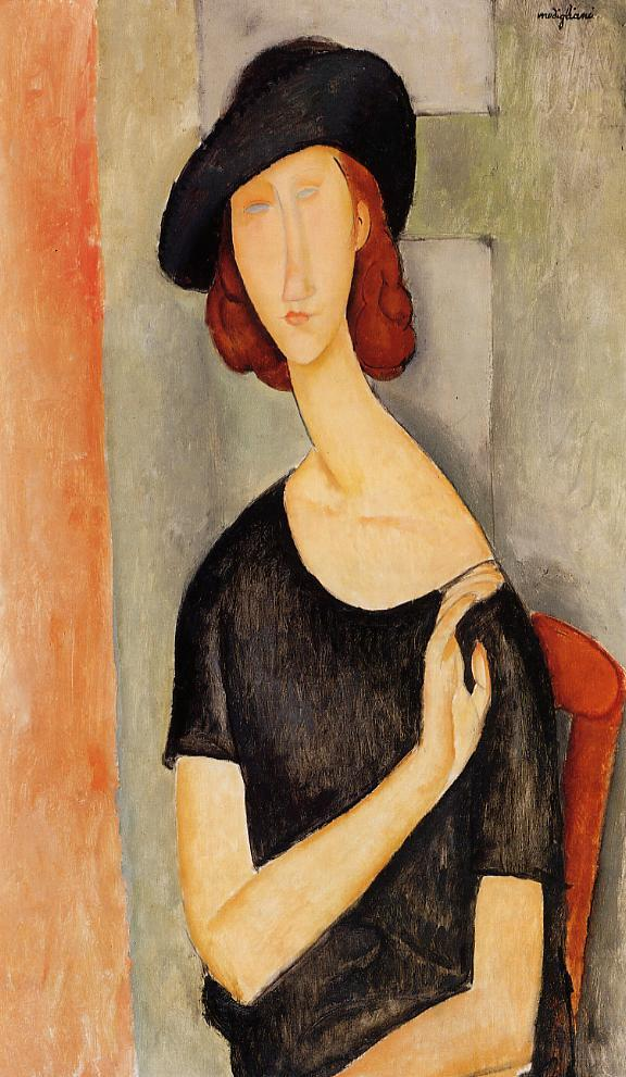 Jeanne Hebuterne in a Hat 1919 | Amedeo Modigliani | Oil Painting