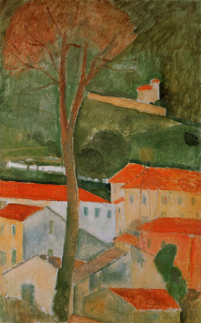 Landscape 1919 | Amedeo Modigliani | Oil Painting