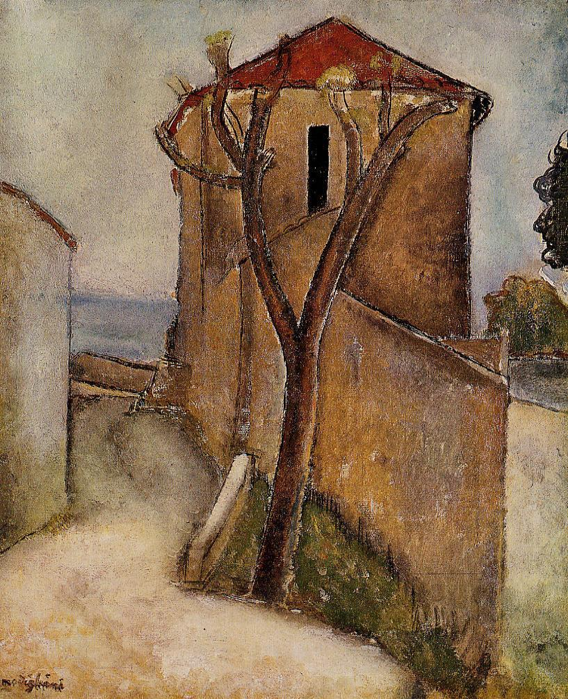 Landscape in the Midi 1918 | Amedeo Modigliani | Oil Painting