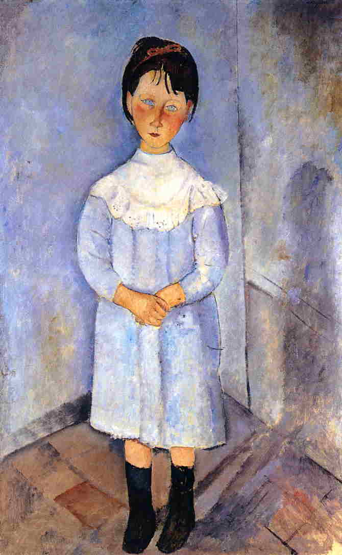 Little Girl in Blue 1918 | Amedeo Modigliani | Oil Painting