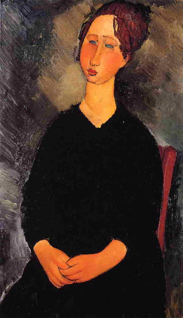 Little Serving Woman 1919 | Amedeo Modigliani | Oil Painting