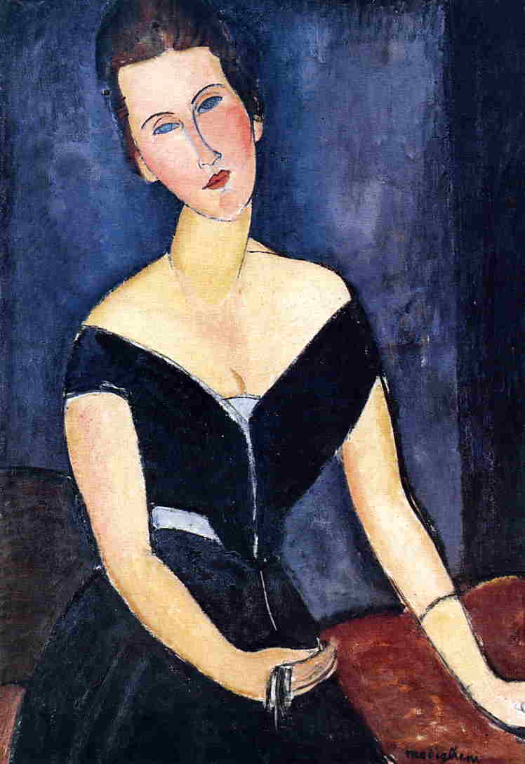 Madame Georges van Muyden 1917 | Amedeo Modigliani | Oil Painting