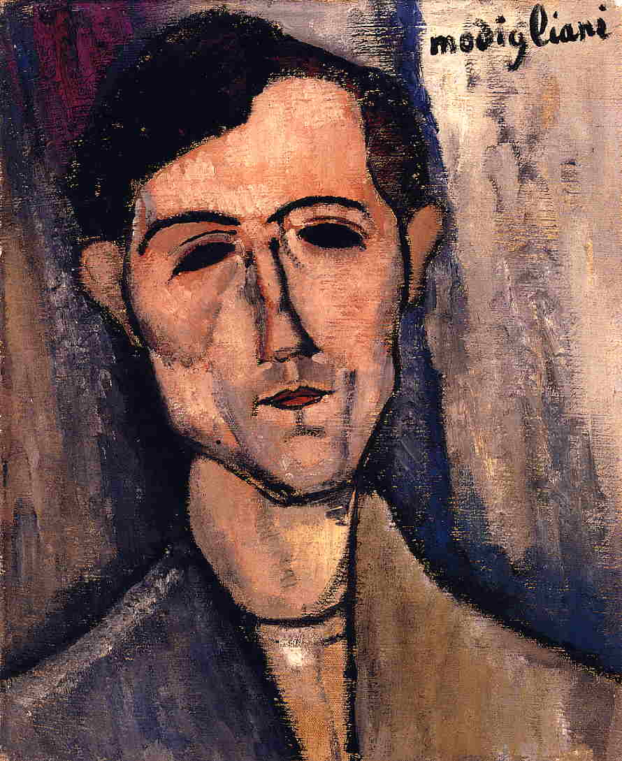 Man's Head (aka Portrait of a Poet) 1915 | Amedeo Modigliani | Oil Painting