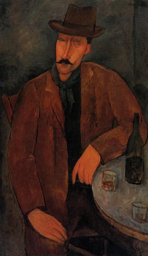 Man with a Glass of Wine 1918 | Amedeo Modigliani | Oil Painting