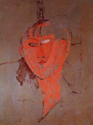 The Red Head | Amedeo Modigliani | Oil Painting
