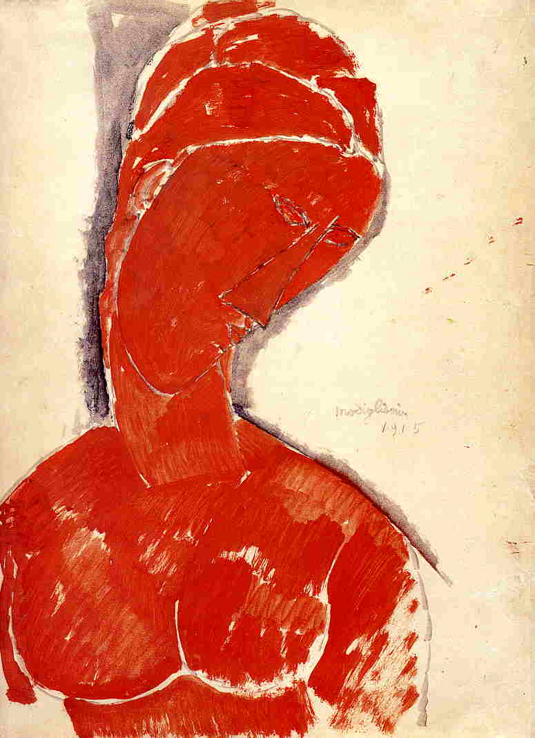 Nude Bust 1915 | Amedeo Modigliani | Oil Painting