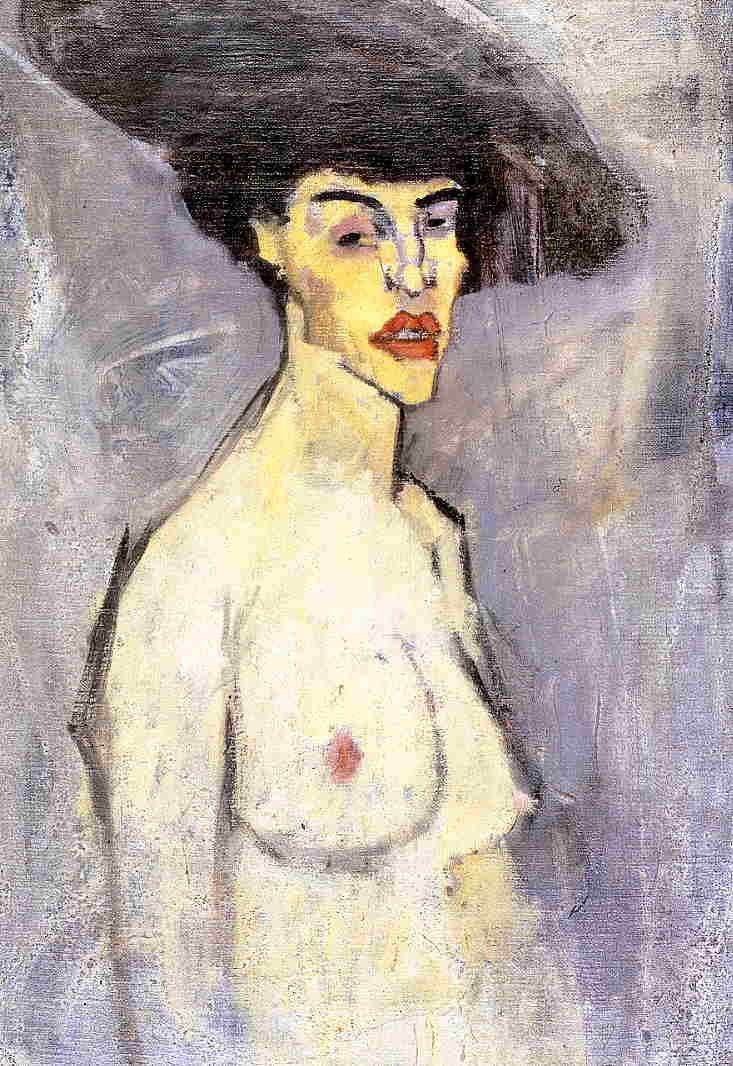 Nude with Hat 1907 1908 | Amedeo Modigliani | Oil Painting