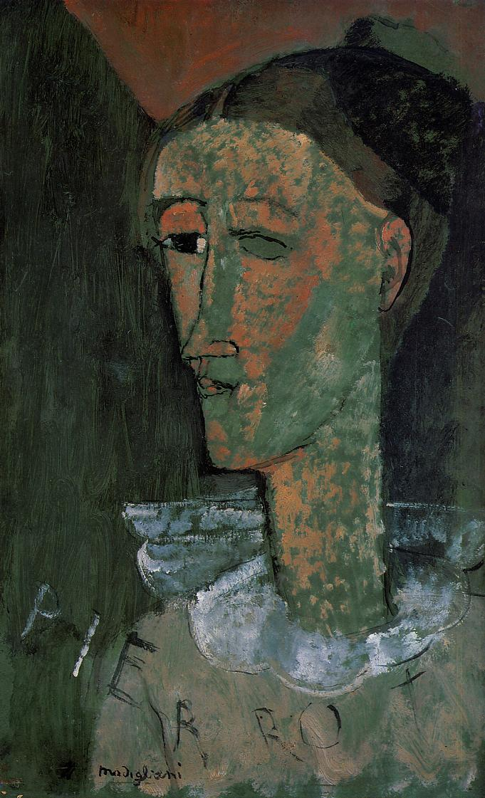 Pierrot (aka Self Portrait as Pierrot) 1915 | Amedeo Modigliani | Oil Painting
