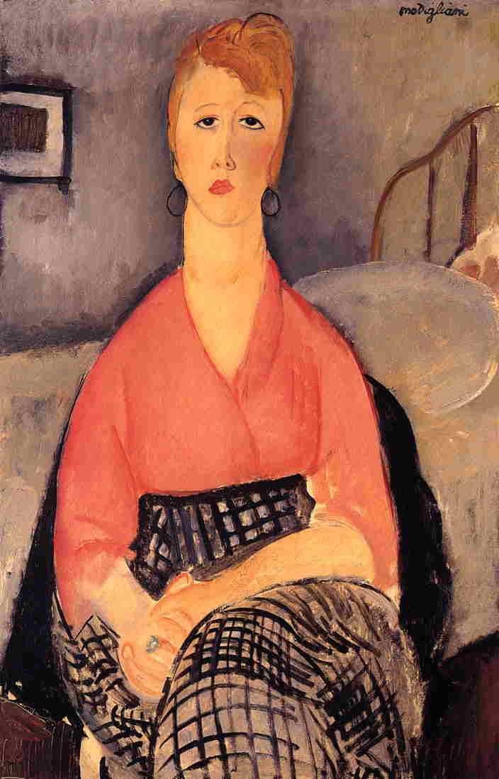 Pink Blouse 1919 | Amedeo Modigliani | Oil Painting