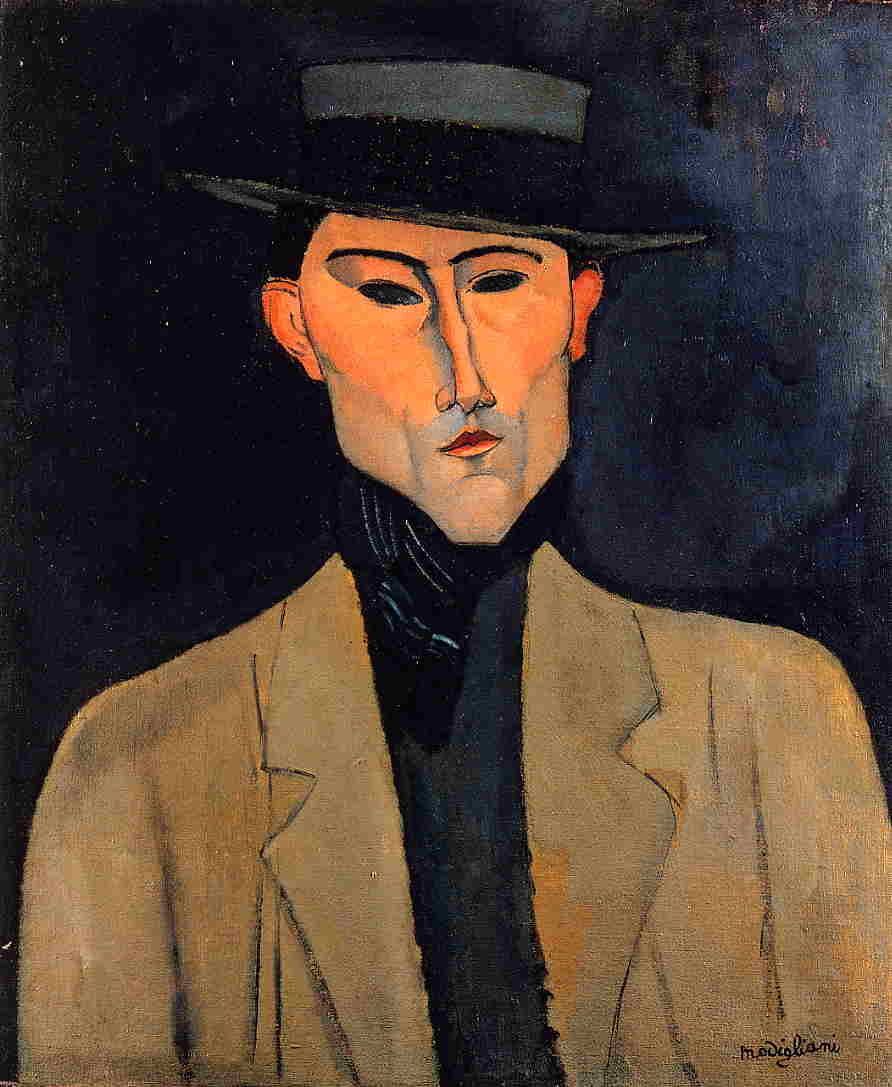 Portrait of a Man with Hat (aka Jose Pacheco) 1915 | Amedeo Modigliani | Oil Painting