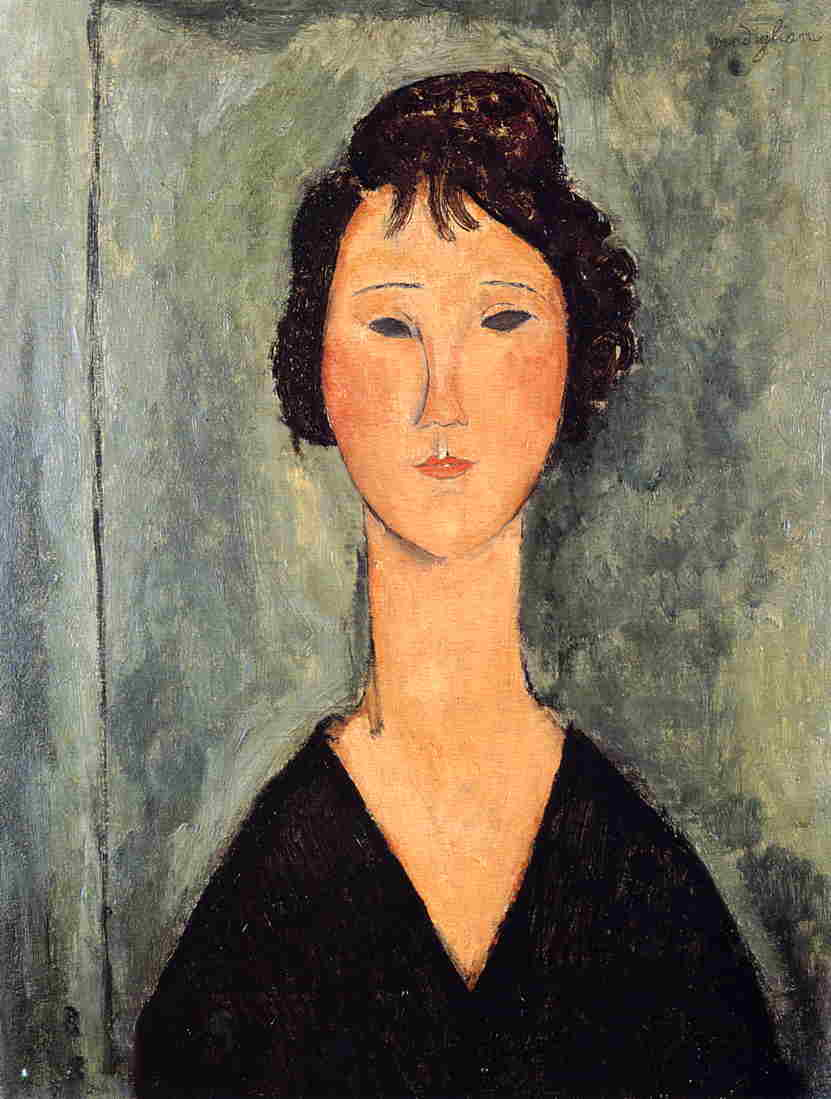 Portrait of a Woman 1919   Amedeo Modigliani   Oil Painting