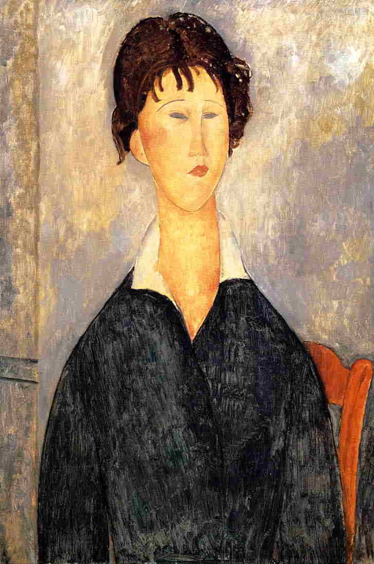 Portrait of a Woman with a White Collar 1919 | Amedeo Modigliani | Oil Painting