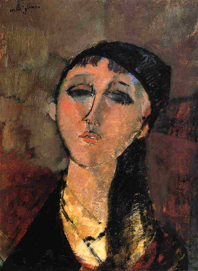 Portrait of a Young Girl (aka Louise) 1915   Amedeo Modigliani   Oil Painting
