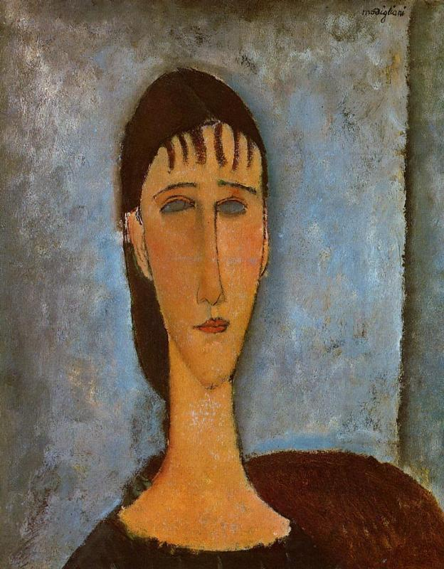 Portrait of a Young Girl 1910 | Amedeo Modigliani | Oil Painting