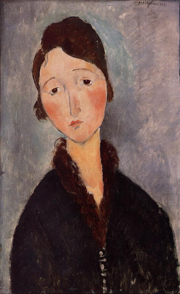Portrait of a Young Woman 1918 1919 2   Amedeo Modigliani   Oil Painting