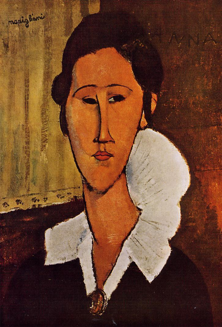 Portrait of Anna 1918 | Amedeo Modigliani | Oil Painting