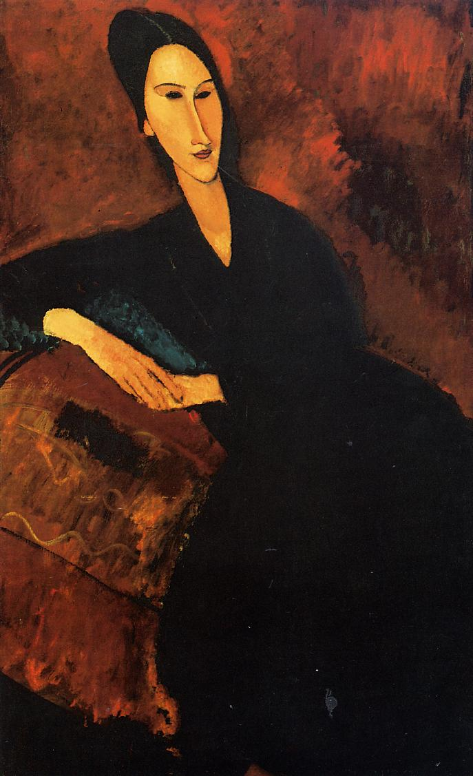 Portrait of Anna Zborowska 1917   Amedeo Modigliani   Oil Painting
