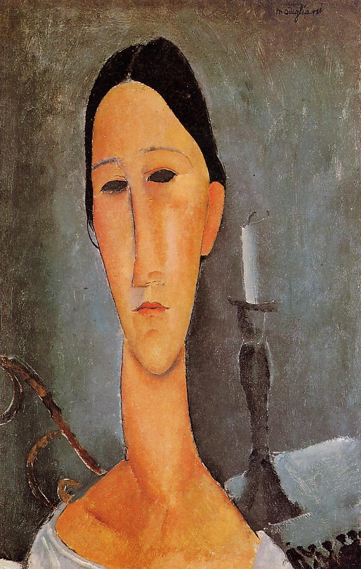 Portrait of Anna Zborowska 1919   Amedeo Modigliani   Oil Painting