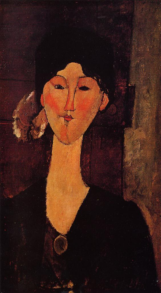 Portrait of Beatrice Hastings 1915 | Amedeo Modigliani | Oil Painting
