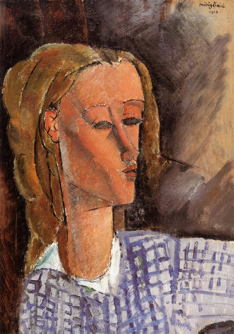 Portrait of Beatrice Hastings 1916 3 | Amedeo Modigliani | Oil Painting