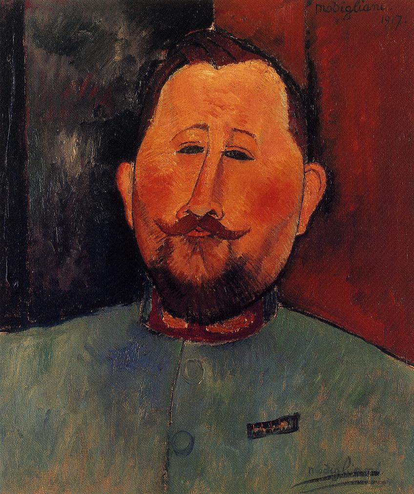 Portrait of Doctor Devaraigne 1917 | Amedeo Modigliani | Oil Painting