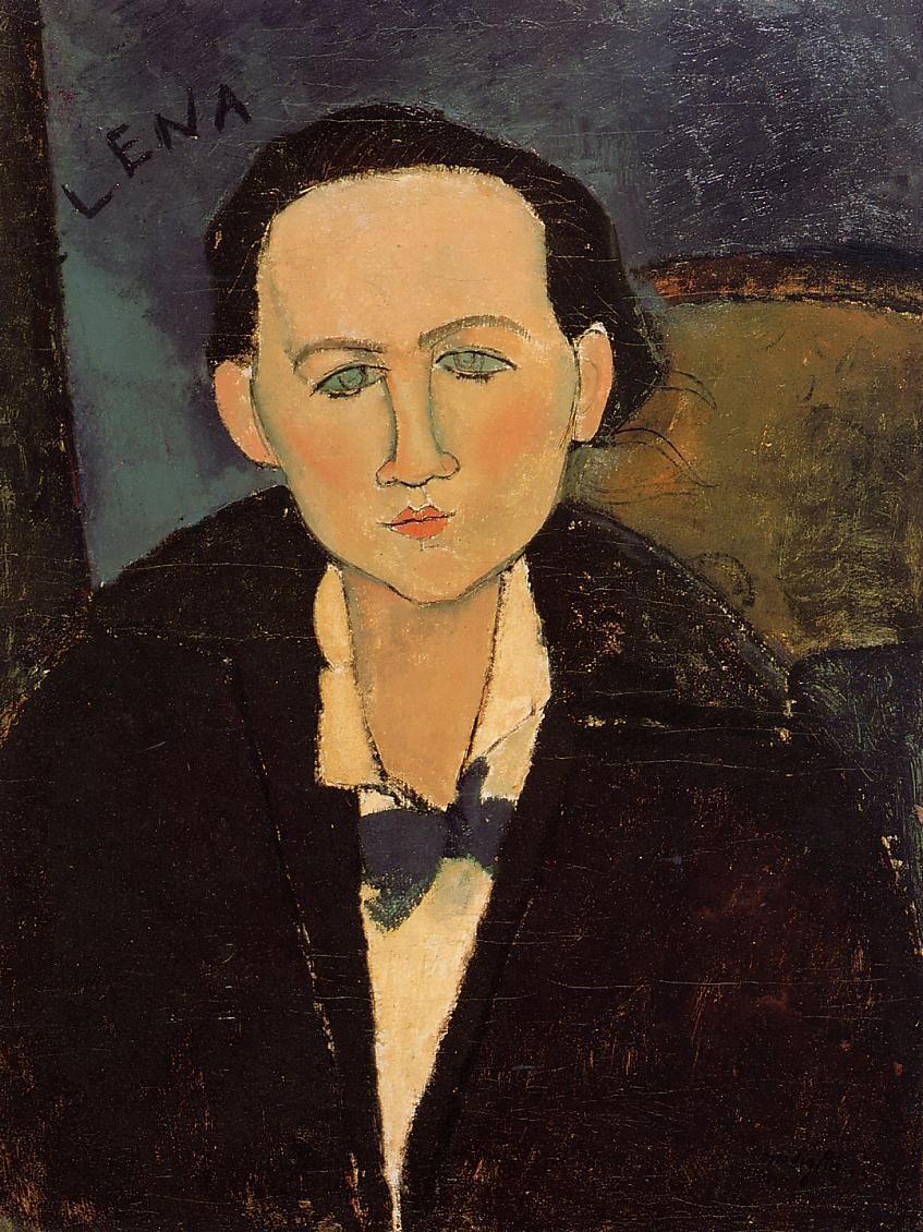 Portrait of Elena Pavlowski 1917 | Amedeo Modigliani | Oil Painting