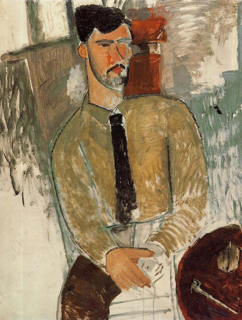 Portrait of Henri Laurens 1915 2 | Amedeo Modigliani | Oil Painting