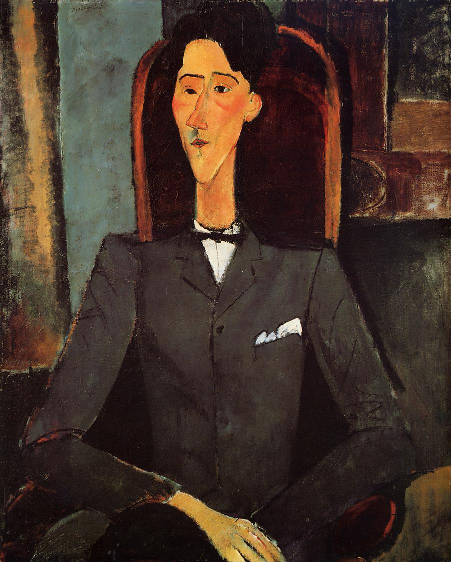 Portrait of Jean Cocteau 1917 | Amedeo Modigliani | Oil Painting