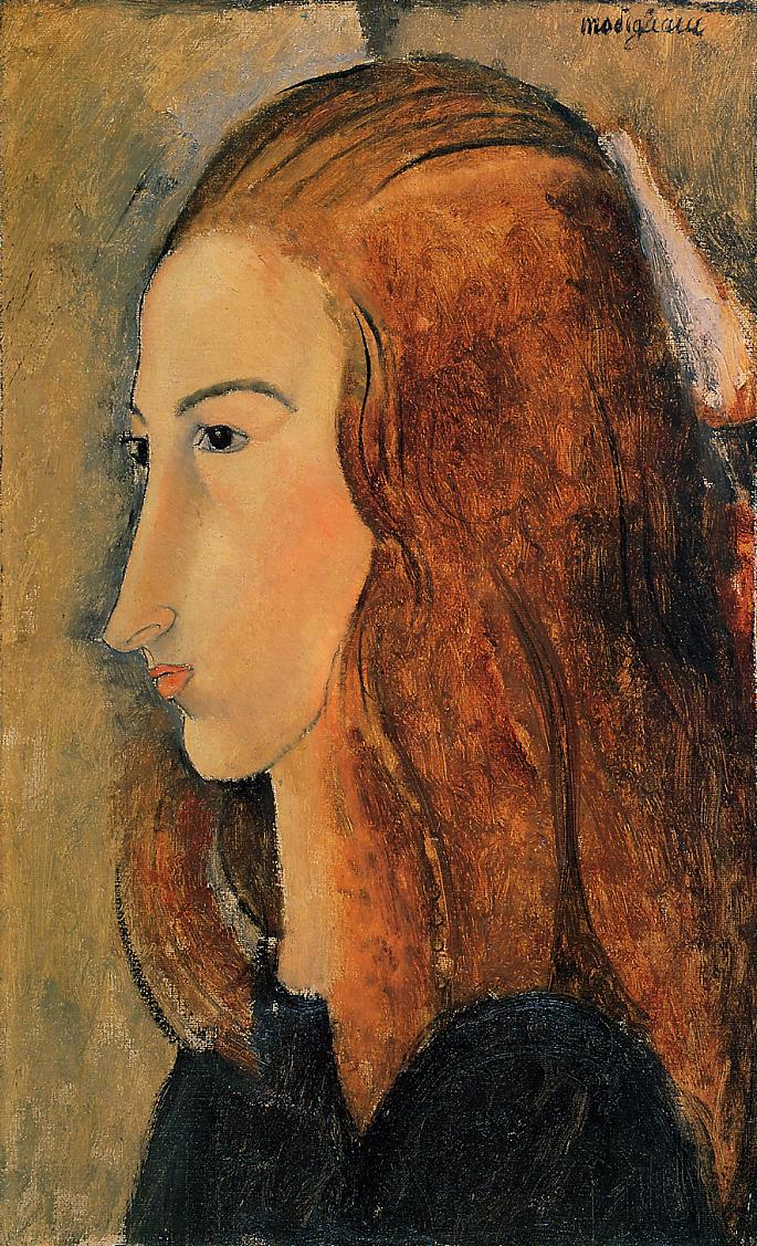 Portrait of Jeanne Hebutern 1918 | Amedeo Modigliani | Oil Painting