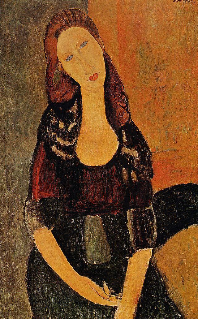 Portrait of Jeanne Hebuterne 1917 | Amedeo Modigliani | Oil Painting