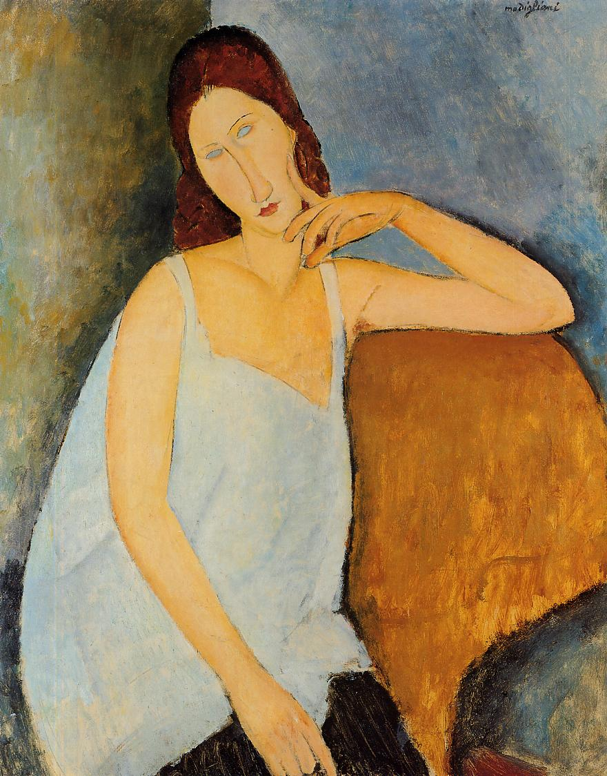 Portrait of Jeanne Hebuterne 1918 | Amedeo Modigliani | Oil Painting