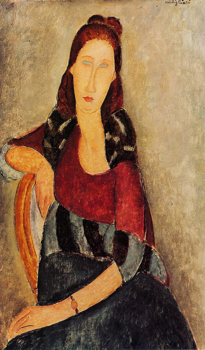 Portrait of Jeanne Hebuterne 1919 2 | Amedeo Modigliani | Oil Painting