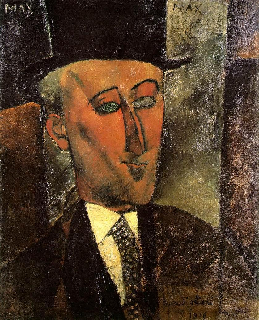 Portrait of Max Jacob 1916 | Amedeo Modigliani | Oil Painting