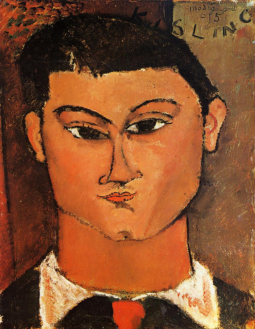 Portrait of Moise Kisling 1915 | Amedeo Modigliani | Oil Painting