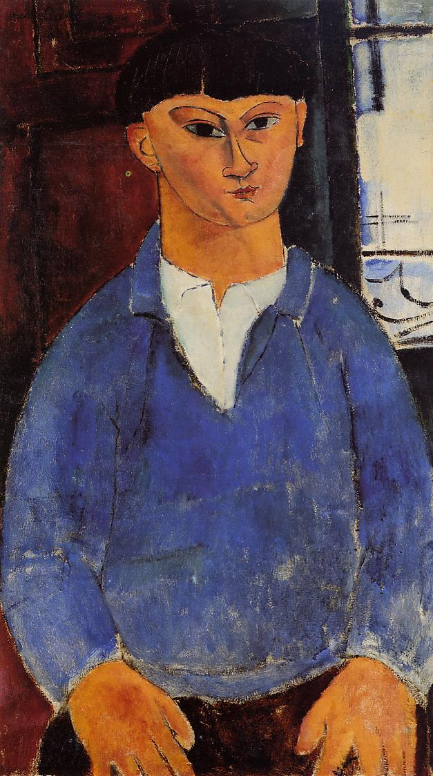Portrait of Moise Kisling 1916 | Amedeo Modigliani | Oil Painting