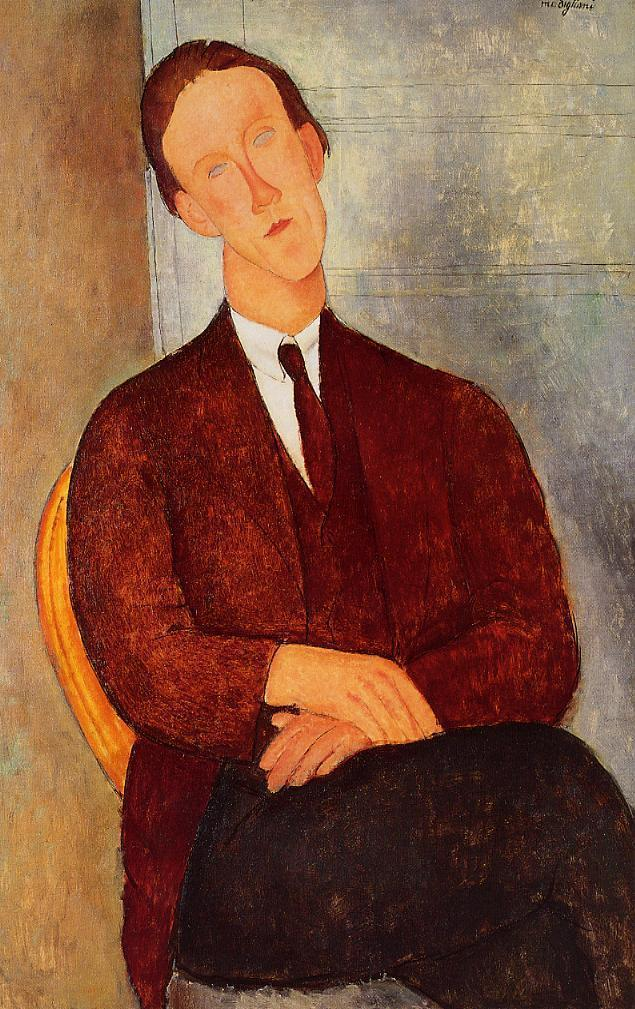 Portrait of Morgan Russell 1918 | Amedeo Modigliani | Oil Painting